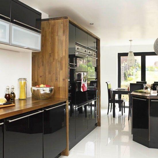 black kitchen - Google-Suche | Black gloss kitchen, High ...