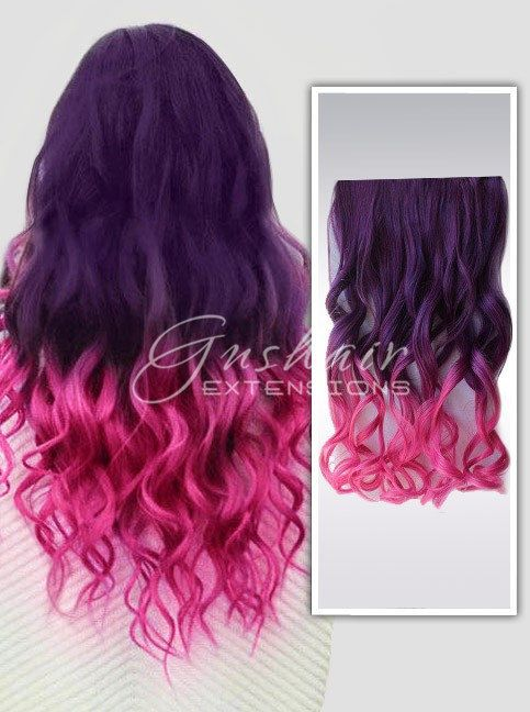 Plum And Pink Ombre Hair Wigsdiy Dye Human Hairindian Remy Hair
