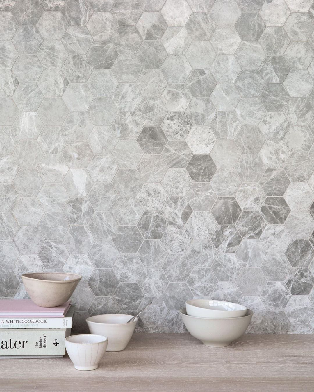 Claybrook Uk On Instagram Marble Is Not Only Practical As A Solution For Walls And Floors But Has An Hexagonal Mosaic Mosaic Tile Designs Custom Mosaic Tile