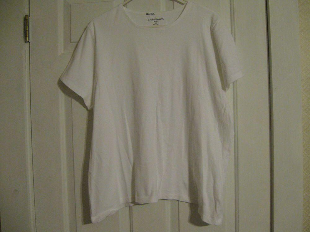 Women's Knit Top White Croft & Barrow 1X Short Sleeved #CroftBarrow #KnitTop #Casual