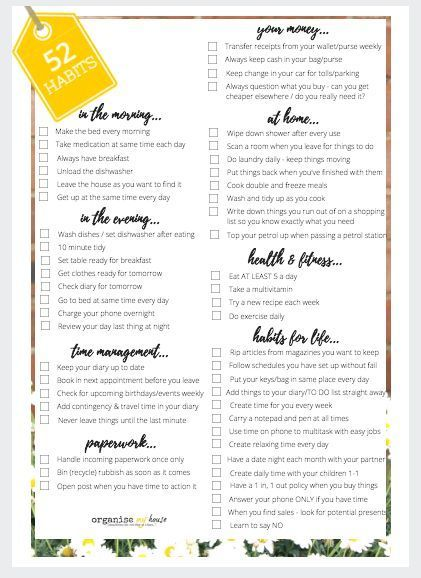 52 habits that can literally change your life Stress free and Change - create receipts free