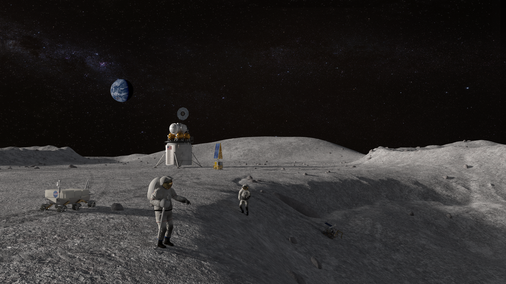 astronauts that went to the moon - HD 1920×1080