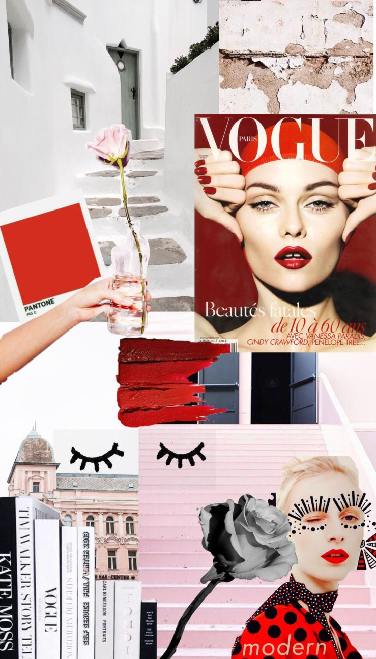 Free Wallpapers On The Blog Aesthetic Artsy Redaesthetic Vogue Whiteaesthetic Vogue Wallpaper Fashion Collage Fashion Wallpaper