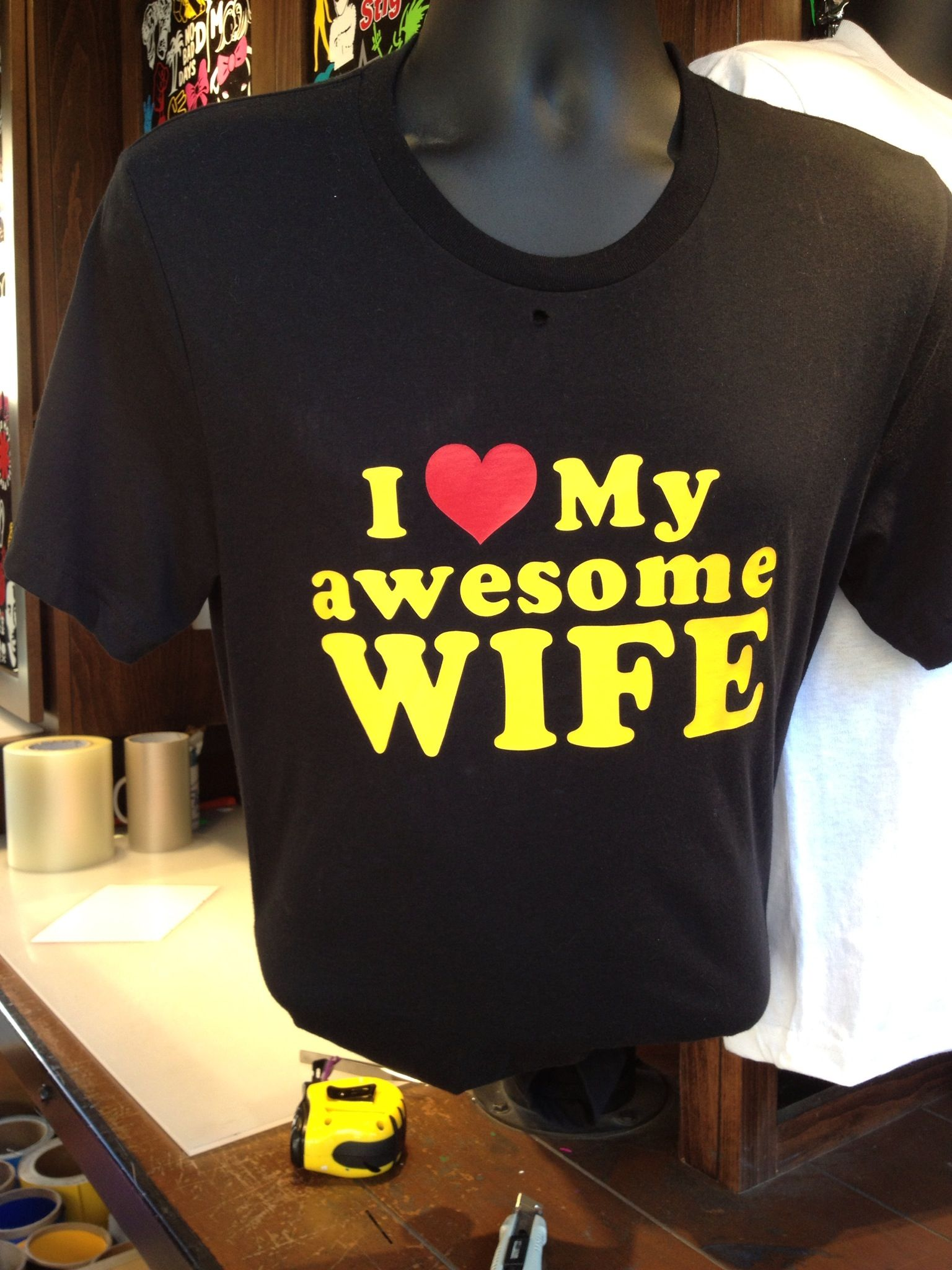 Guys: wear this shirt.  Score brownie points on Mother's Day.
