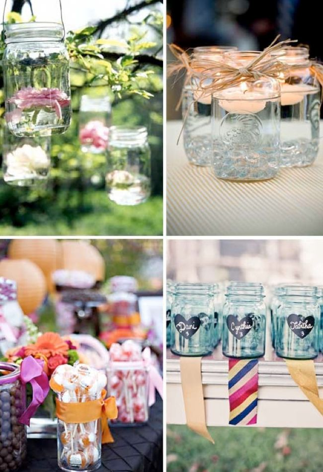 Mason Jar Decorating Ideas Masonjardecorationideas  Wedding Ideas  Pinterest