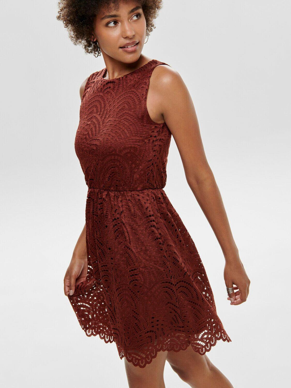only kleid onledith dress rost 40 l spitze damen festlich