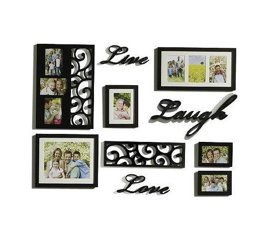 Melannco 10-piece Live,Laugh,Love Word & Frame Wall Decor Set | Wall ...