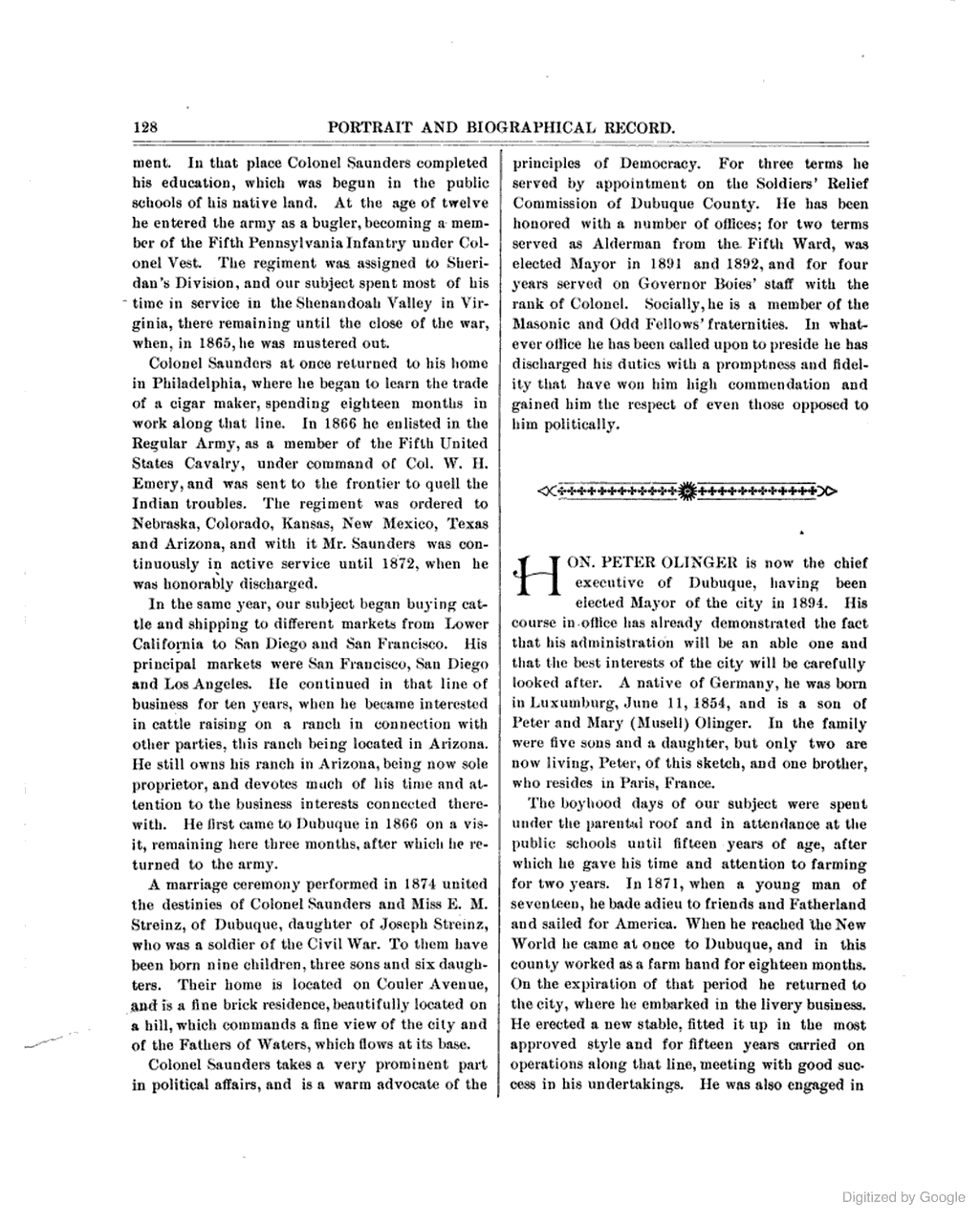 Portrait And Biographical Record Of Dubuque Jones And Clayton - Counties in iowa