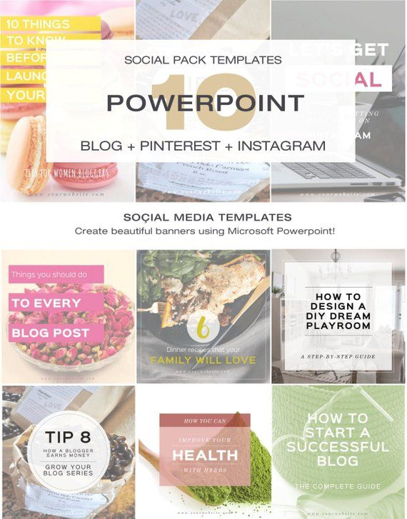 Social Media Templates Ms Powerpoint Pinterest Templates Instagram