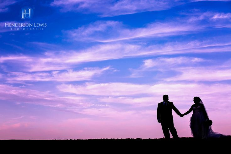 Wedding ideas, silhouette, sunset,