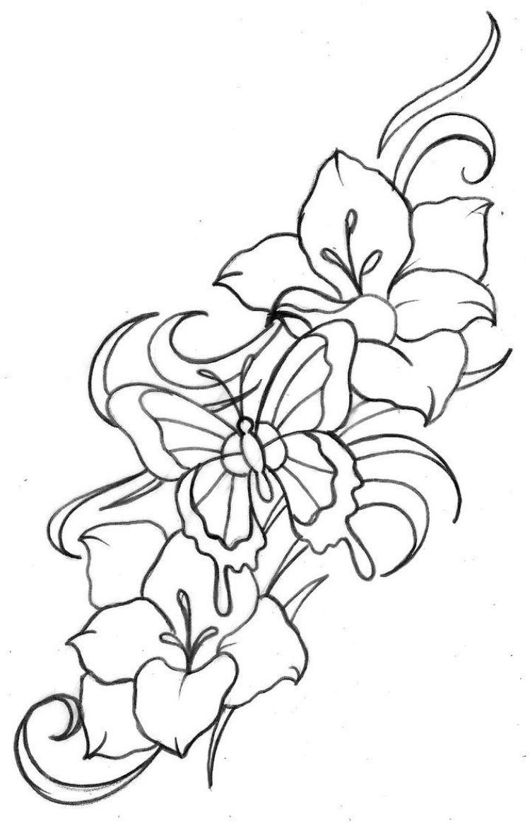 tattoo-vorlagen-blumen-schmetterling-motiv   Tattoo Motive ...