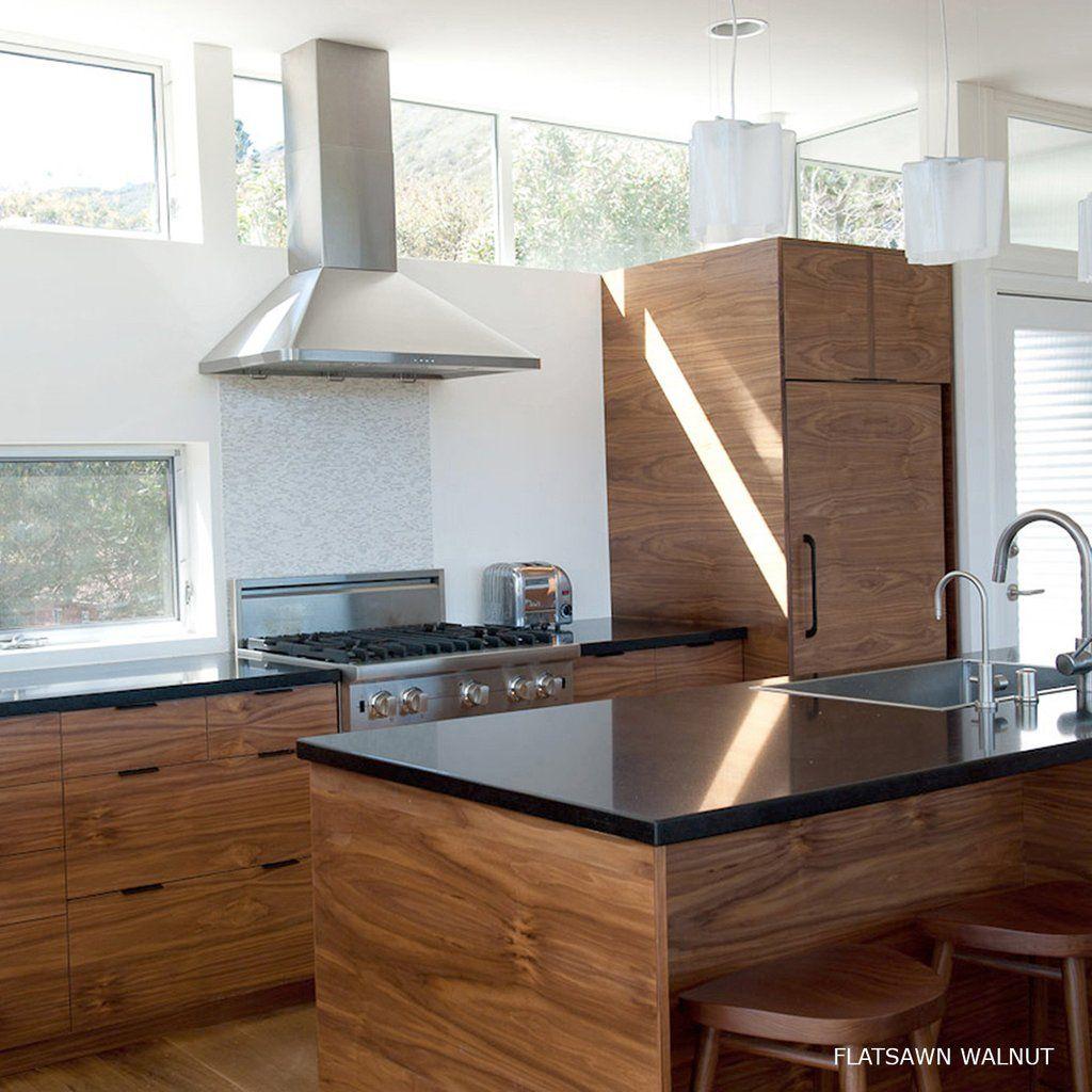 semi handmade flatsawn walnut + black top Kitchen