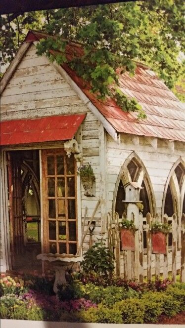 Potting cottage.  Who doesn't need one of these?