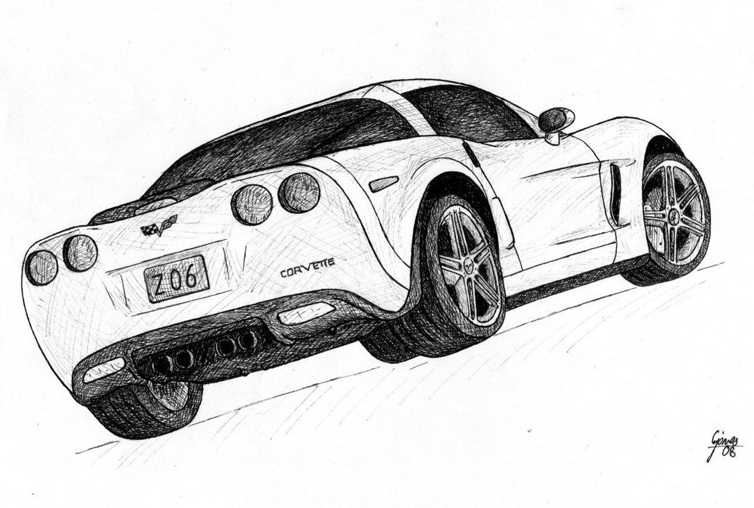 4f176b8f1858 How To Draw A Corvette