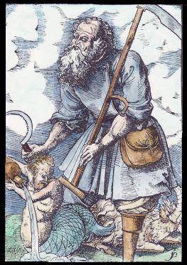 SATURNO - Incisione dI The Master 4+ (c. 1554-1580).