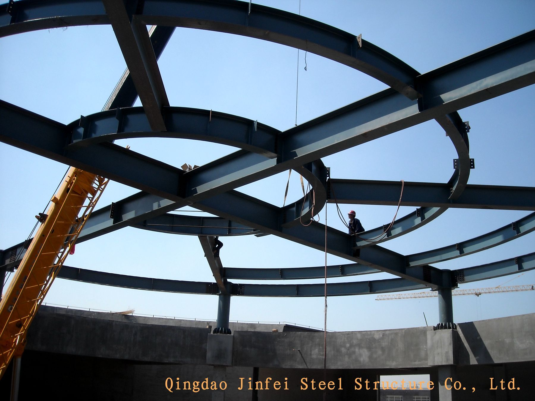 Hot Item Round Roof Steel Structure For Supermarket Steel Structure Metal Roof Construction Steel Architecture