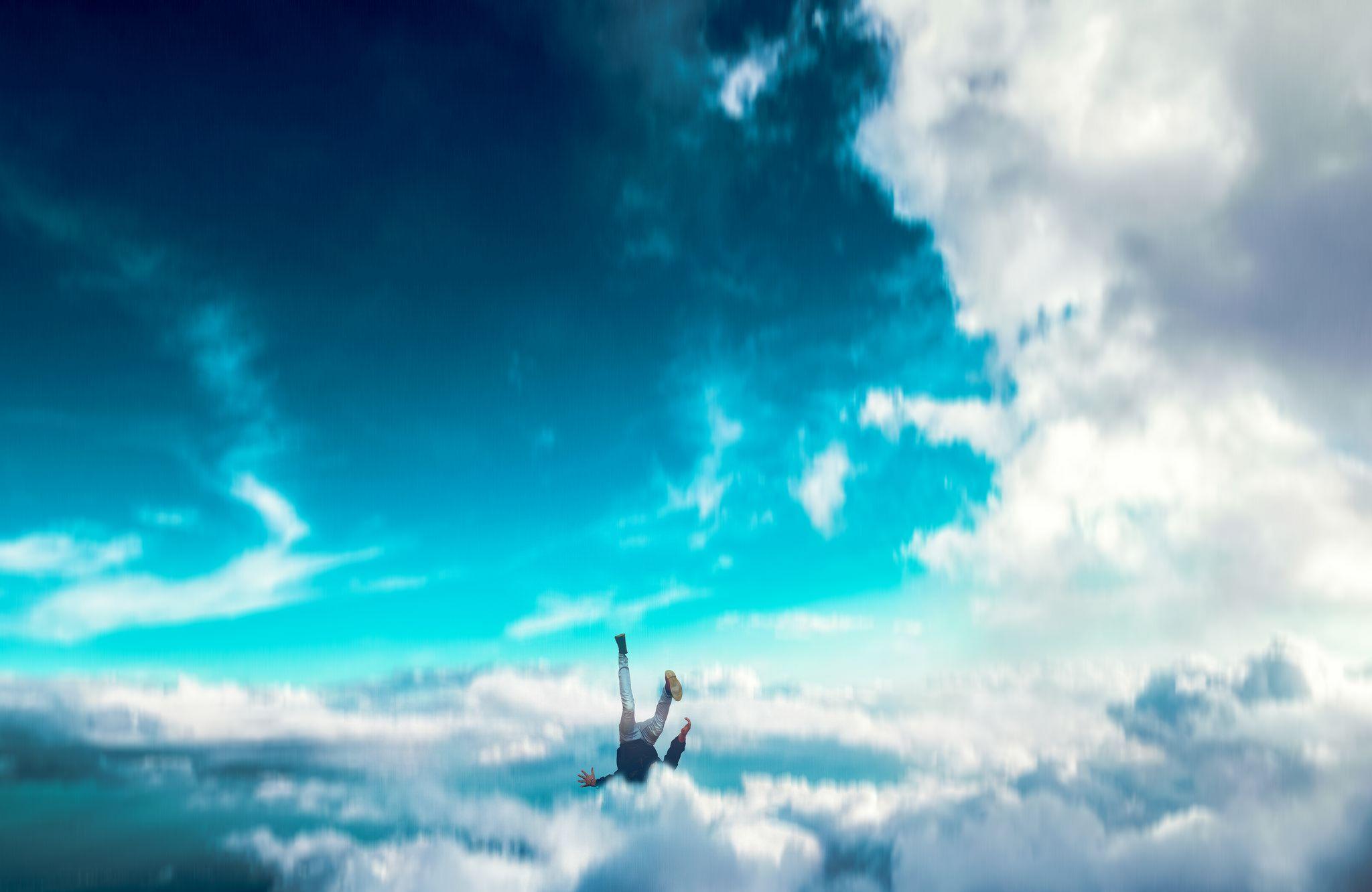 356/365 falling (Pt. 3) Clouds wallpaper iphone, Blue