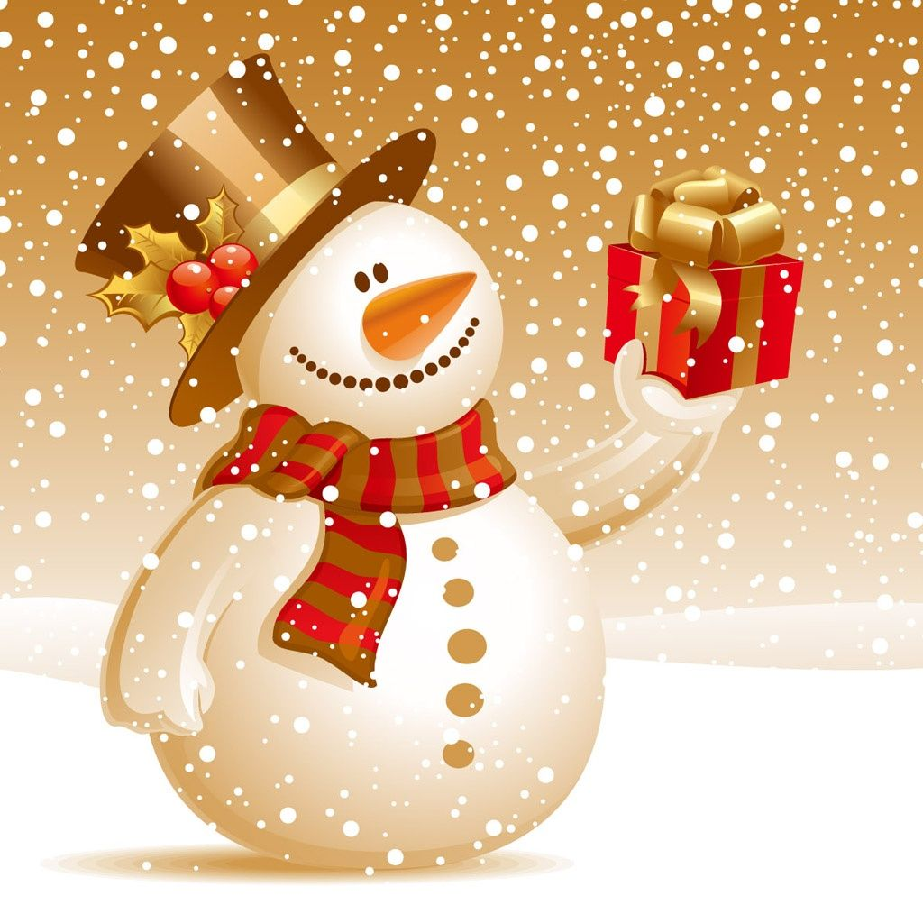 Christmas Pictures Free Download Christmas Snowman Ipad Wallpaper