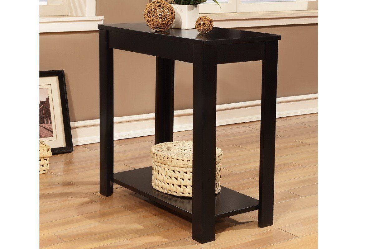 Best Poundex F6255 Black Side Table With Lower Shelf Black 400 x 300