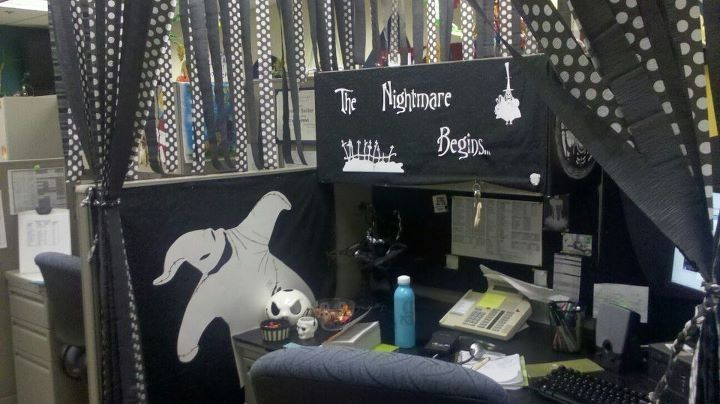 Image result for nightmare before christmas cubicle decor