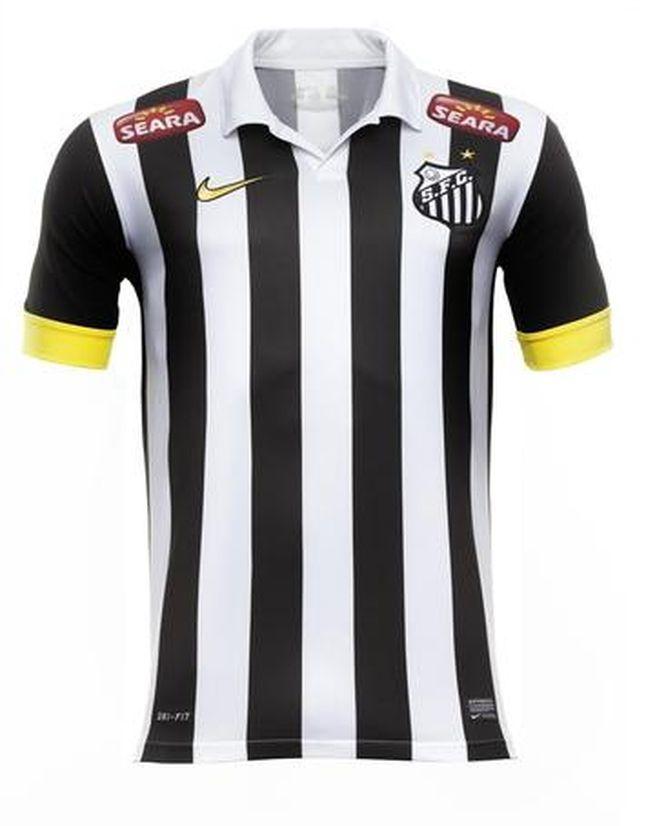 ac82dc9d1 Camisa do Santos (Foto: Divulgação) | DRESOVI FUDBALSKIH KLUBOVA ...