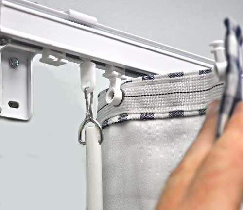 Deco Ripplefold Center Draw Curtain Track Sets Curtain Rod