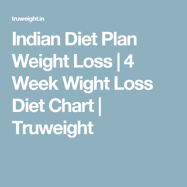 How To Lose Weight In 4 Weeks Indian Weight Loss Diet Chart