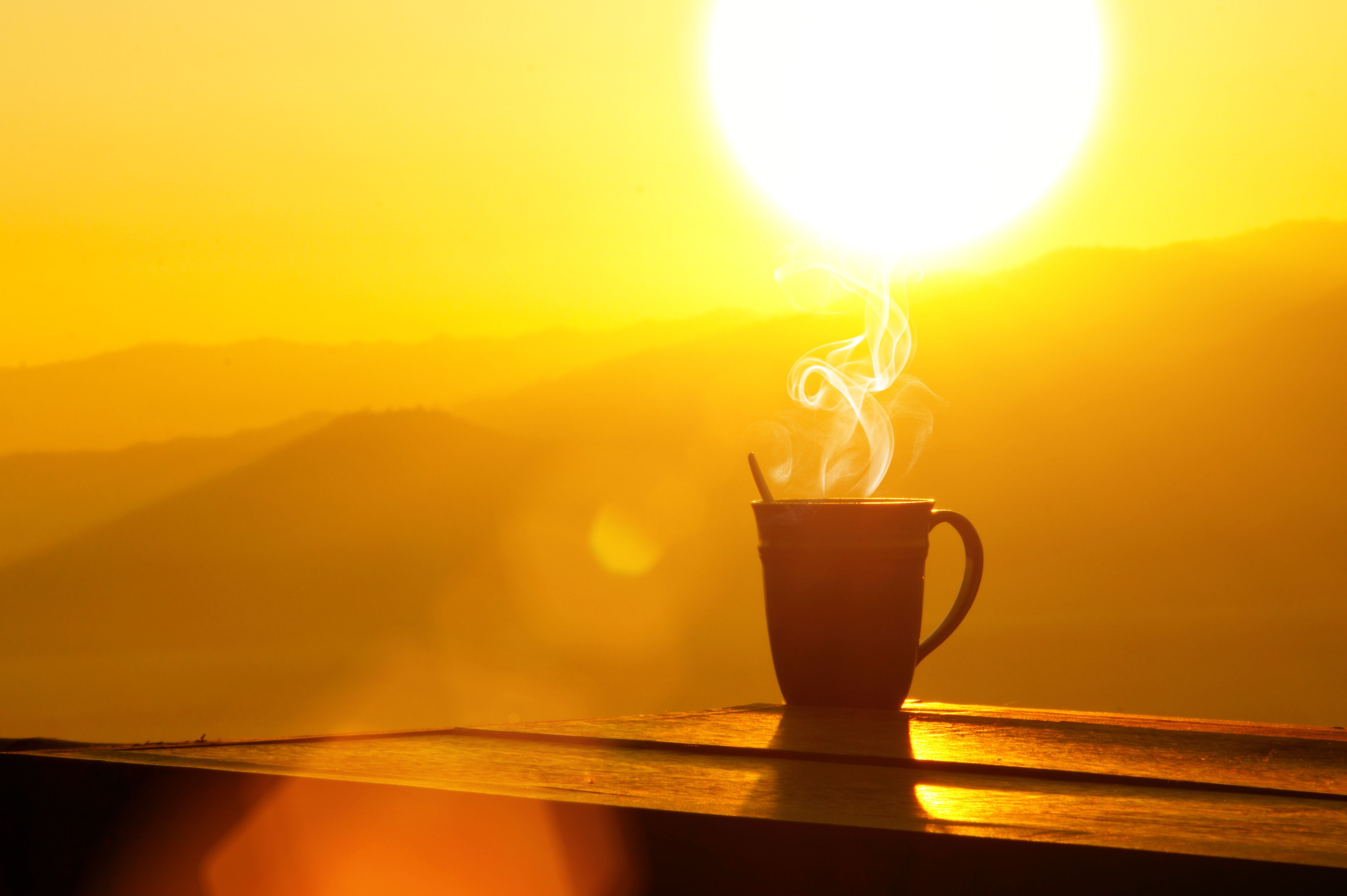 Talk about a perfect day! A sunrise and a great cup of