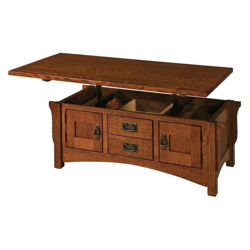 Amish Lombard Lift Top Coffee Table | Amish Furniture | Shipshewana  Furniture Co.