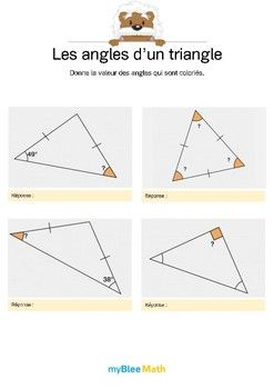 le but de l 39 exercice est de donner la valeur d 39 un angle dans un triangle isoc le rectangle ou. Black Bedroom Furniture Sets. Home Design Ideas