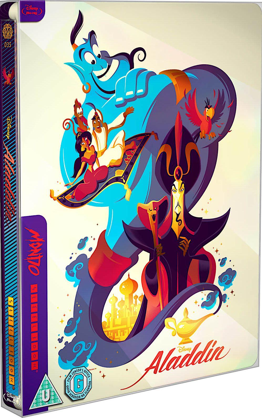 ALADDIN BLURAY STEELBOOK SPINE 35 (MONDO) Aladdin blu