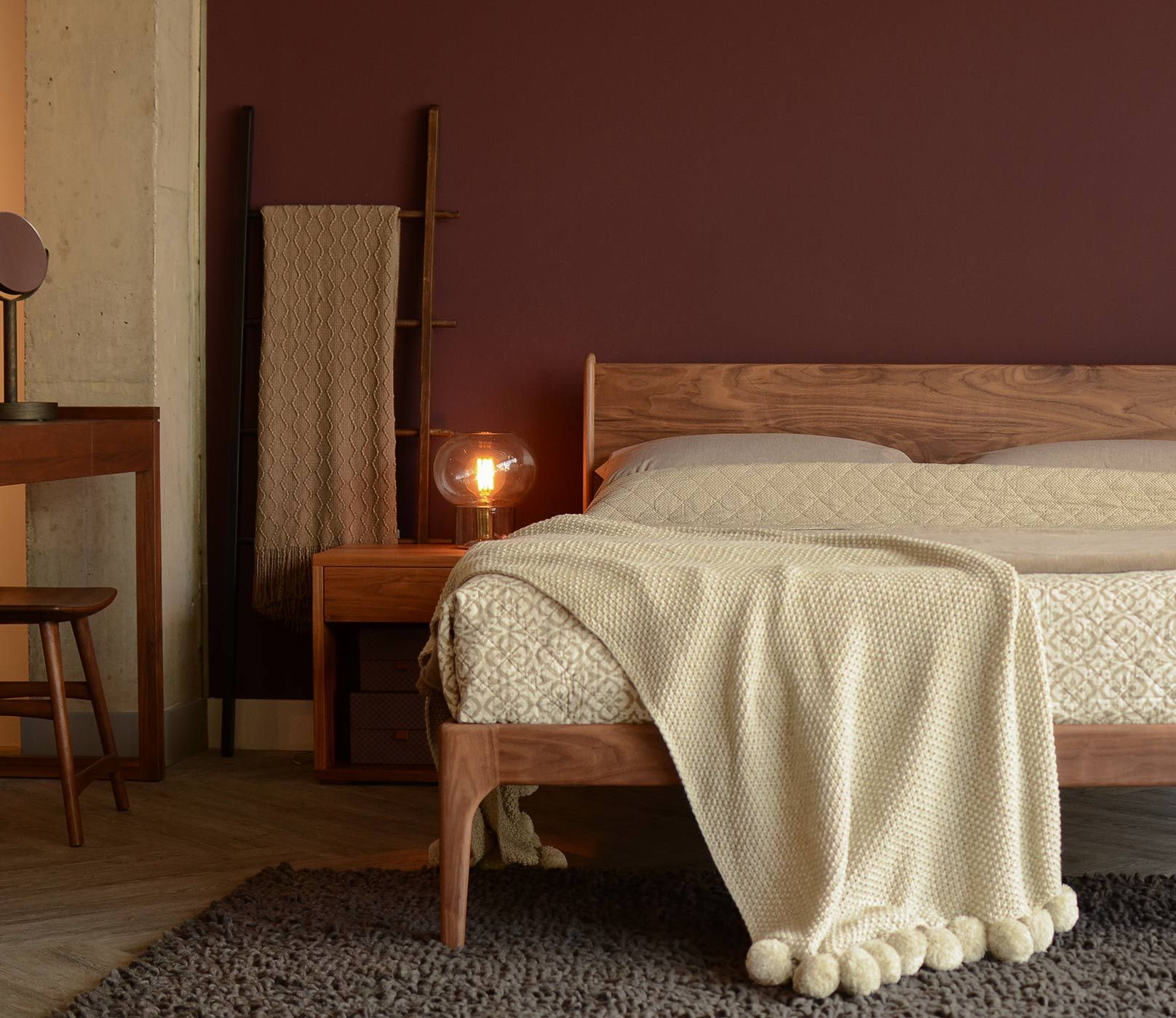 Walnut bedroom furniture the camden bed original cube table and
