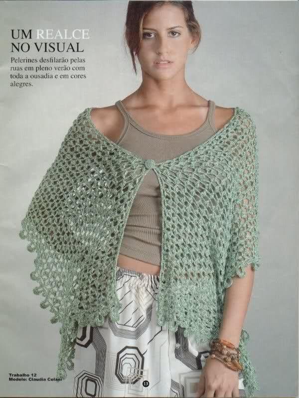 patrones de chal   Crochet   Pinterest   Patrones de chal, Chal y ...