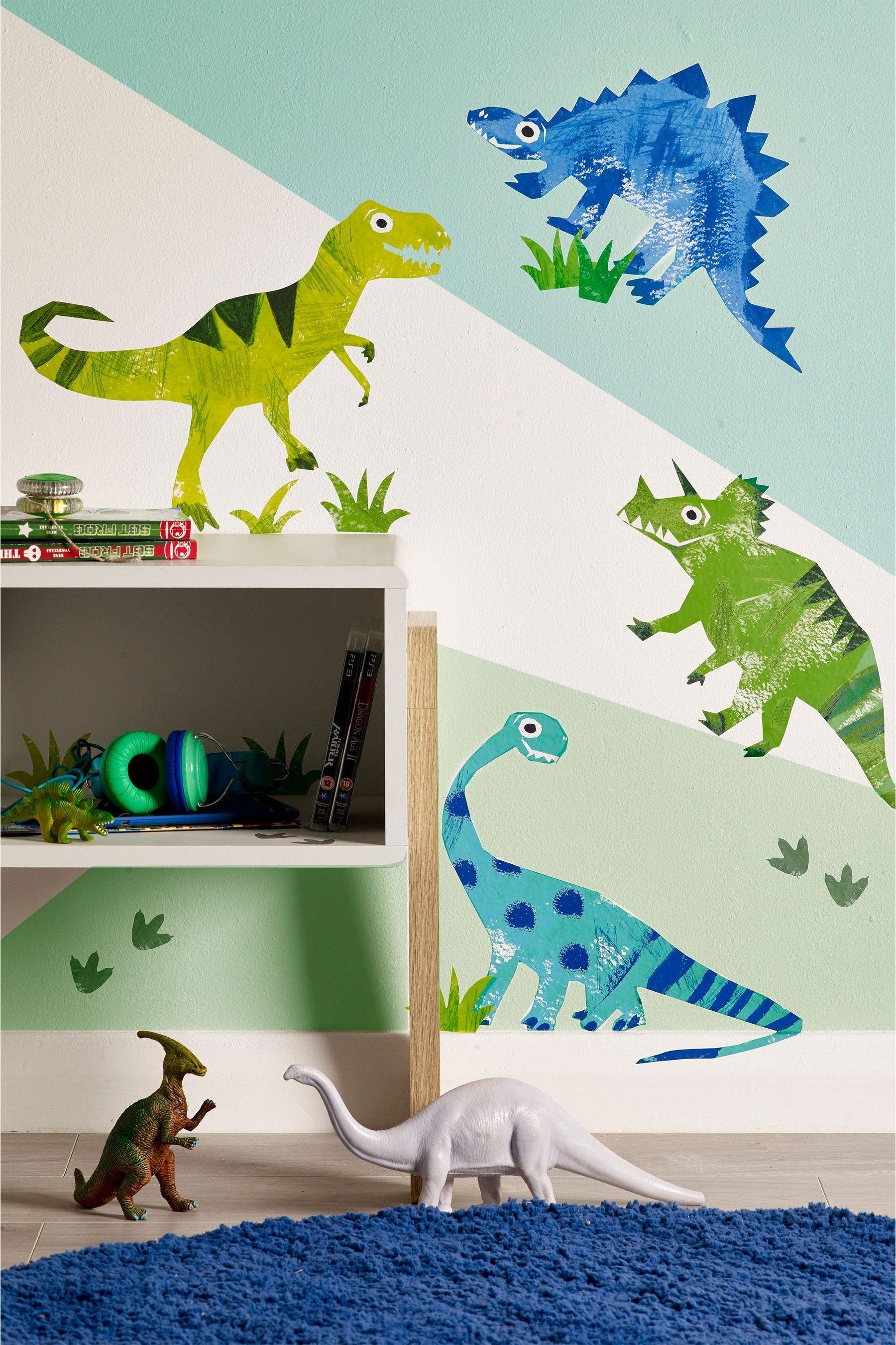 Next Ben The Dino Wall Sticker Blue Dinosaur Bedroom Wall