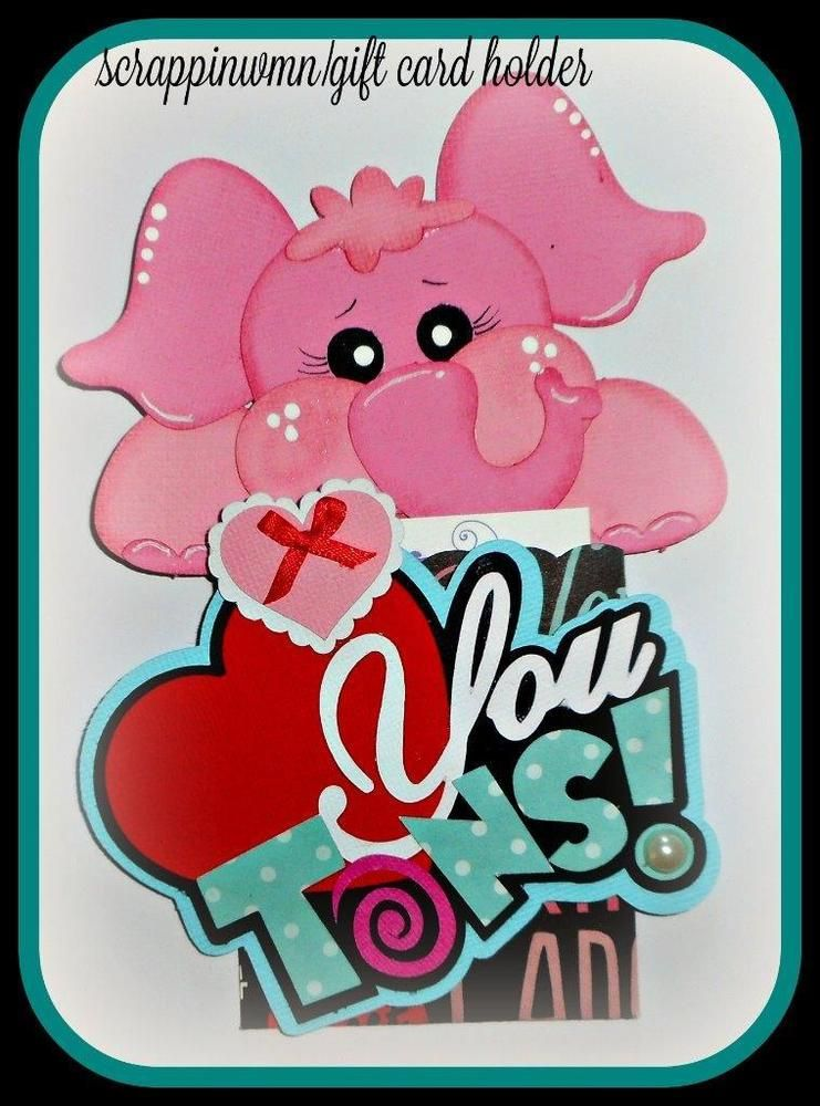 CRAFTECAFE SCRAPBOOK VALENTINE GIFT CARD HOLDER   PREMADE HANDMADE PAPER PIECING #HANDMADE