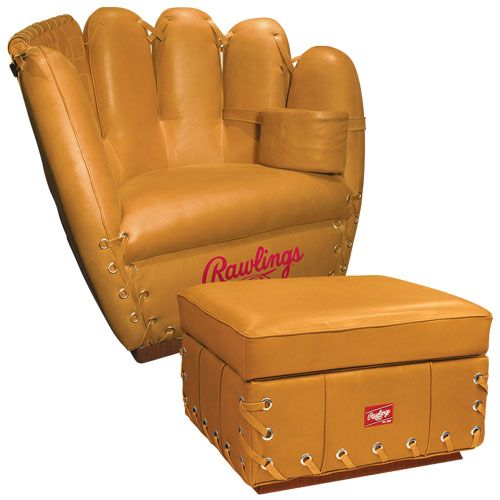 Rawlings Premium Heart Of The Hide Glove Chair And Ottoman Combo