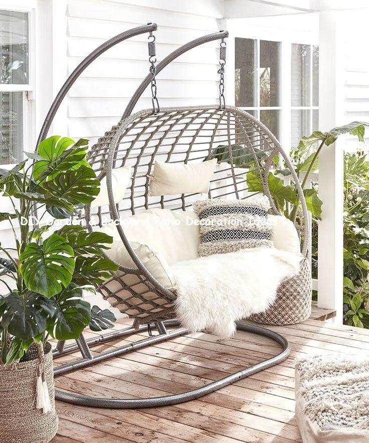 Simple Terrace Garden: Awesome And Cheap Garden-Backyard Patio Furniture Ideas