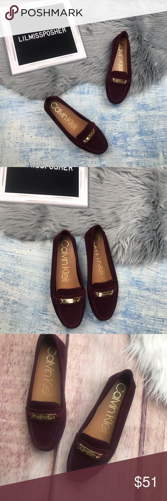NEW Calvin Klein Lunasi Suede Loafer
