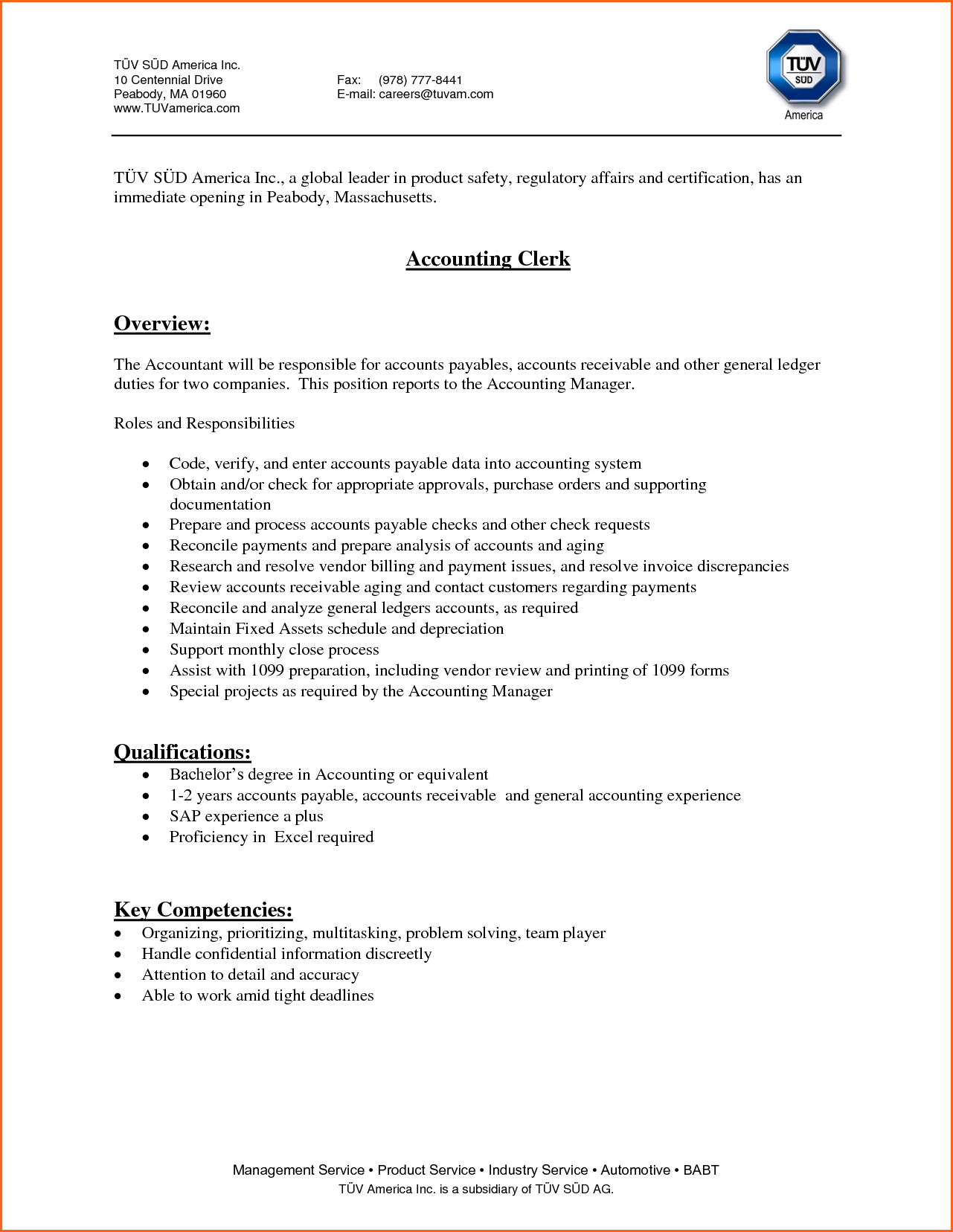 Job Application For Clerk Budget Template Letter Clerical Support