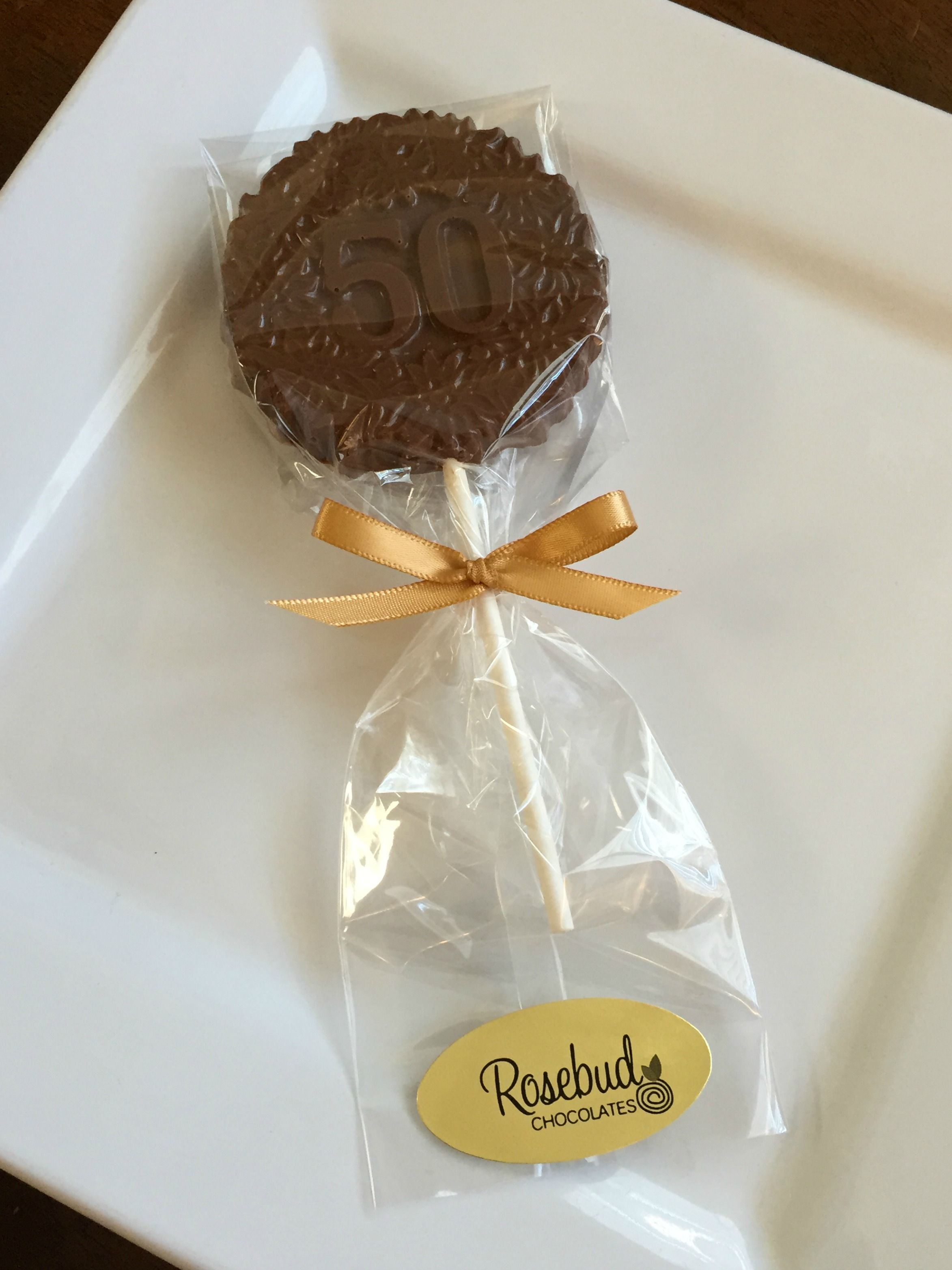 50th Birthday Party Candy Favors... #50 milk chocolate lollipops ...