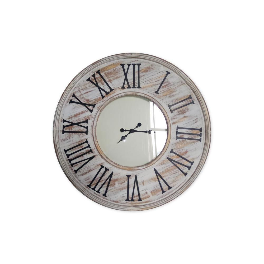 Erik 36 in. Metal Wall Clock U18877 Clock, Metal, Home depot