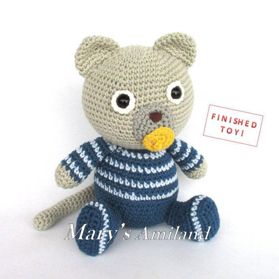 Joe Kitty - FINISHED amigurumi crochet stuffed animal - READY To ...