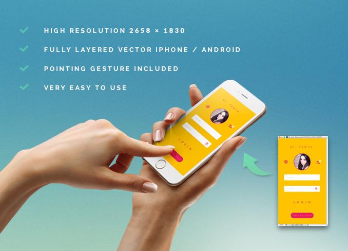 Highresolution iPhone 6 PSD MockUp Free Download Mockup