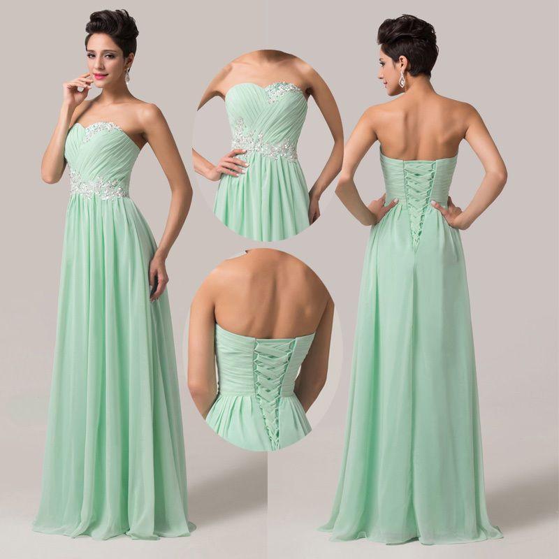 ❤Neu Ankunft❤ Chiffon Lange Ballkleider Abendkleid Brautjungfernkleid GR. 34-44+