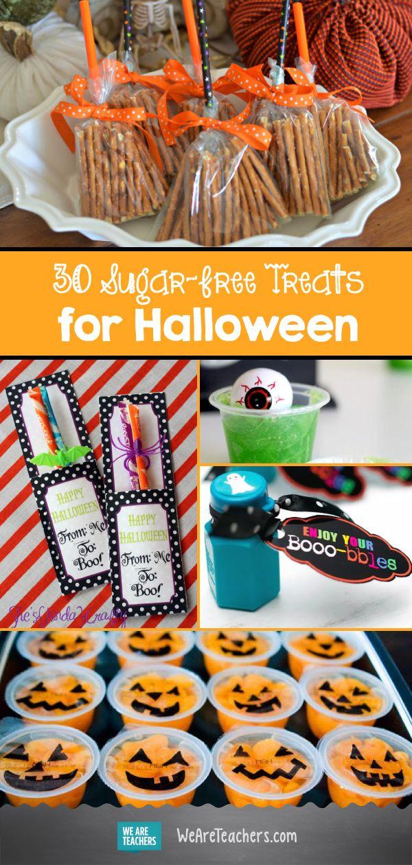 30 Sugar-Free Treats for Halloween #halloweentreatsforschool