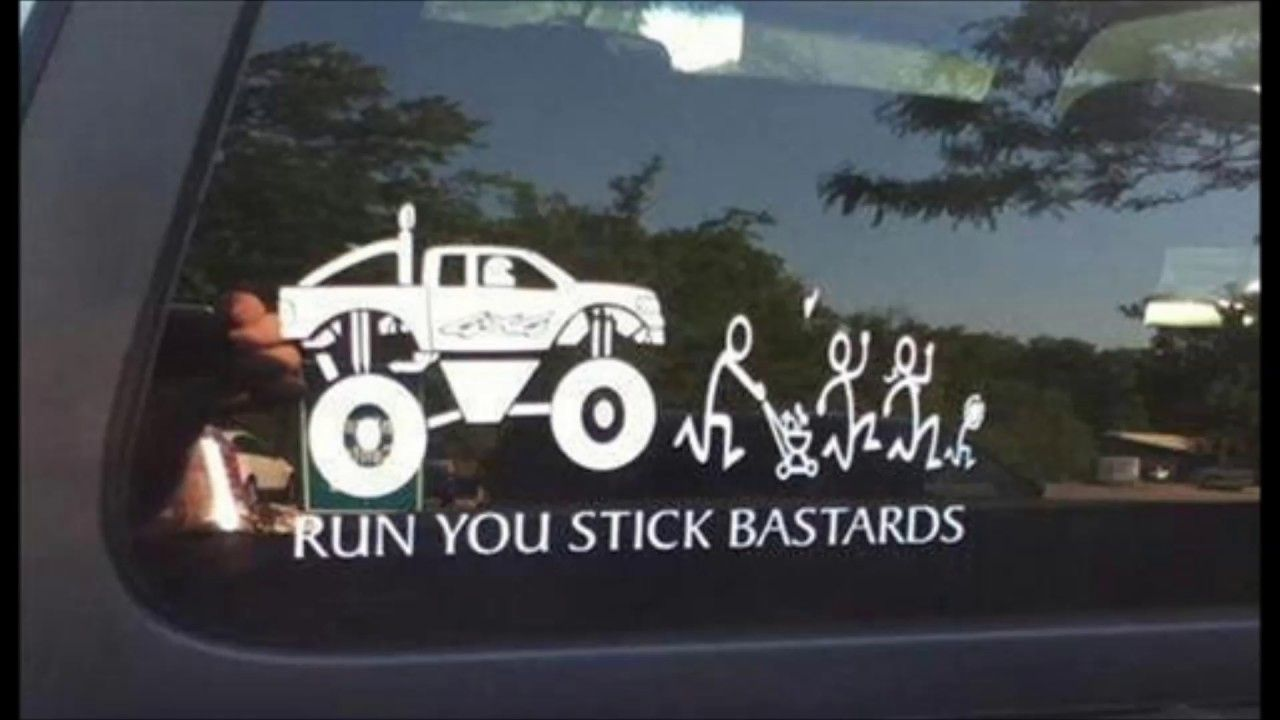 Funny Bumper Car Stickers That Will Make You Look Twice Stick Figure Family Funny Stick Figures Family Stickers [ 720 x 1280 Pixel ]