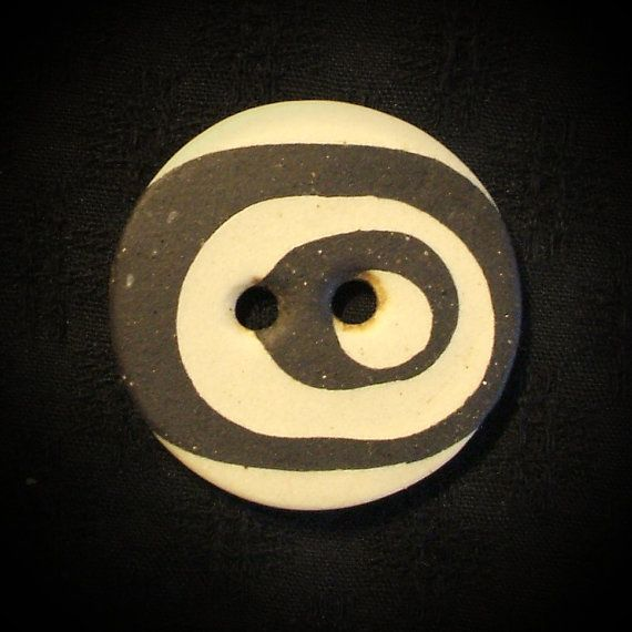 Ceramic Button Natural Porcelain and Stoneware by vika on Etsy, $11.00