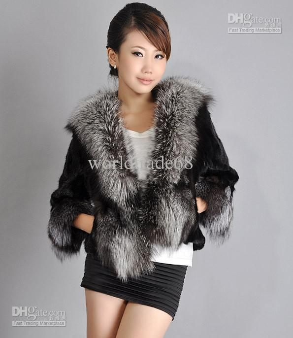 New Fashion Fur coat modern female mink brief paragraph faux fur ...