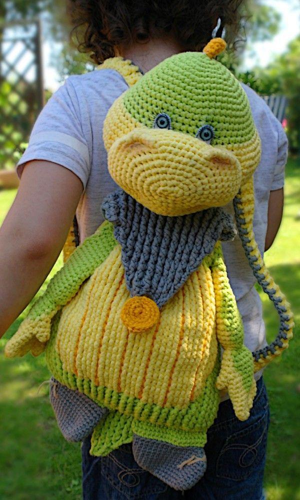 Häkelanleitung Rucksack Dinosaur Dino | Crochet is my life ...