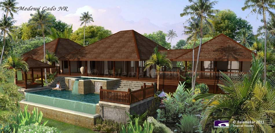 Tropical simple house plan similar to mine medewi gado nr for Simple tropical house plans